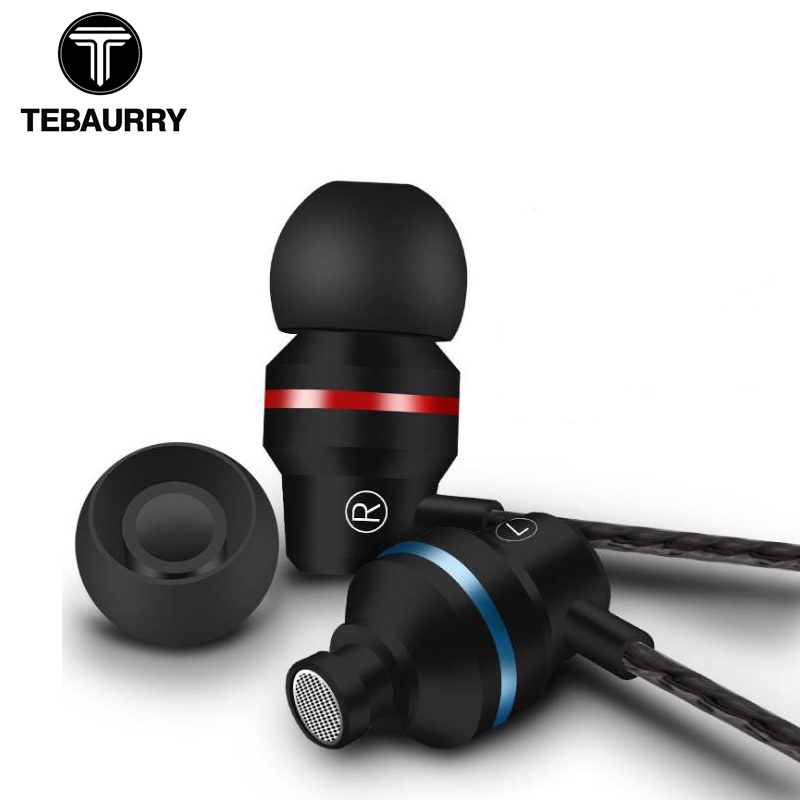 TEBAURRY G80 Metal Earphones with Microphone Super Bass Headset Earbuds In-ear Earphone for phone Xiaomi iphone audifonos new diy ie801 earphone super bass headset 3 5mm in ear hifi stereo earbuds metal earphones for iphone samsung phone earphones