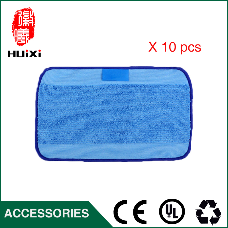 10pcs High Efficiency Cleaner Mop Cloth to House Clean for Braava 321 380 320 380t mint 5200C 5200 Robot Vacuum Cleaner Parts 12pcs lot high quality robot vacuum cleaner wet mop hobot168 188 window clean mop cloth weeper vacuum cleaner parts