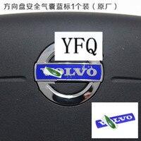 Interior Alumin Car Steering Wheel Safety LOGO Car Sticker Standard For 2012 2016 VOLVO S60 S60L