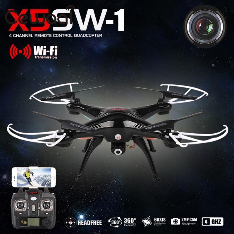 Phoota FPV Quadcopter 4 Achse WIFI Kameras Wireless Video Drone 2,4 Ghz RC RTF Explorer Quadcopter Kamera Hubschrauber Schwarz