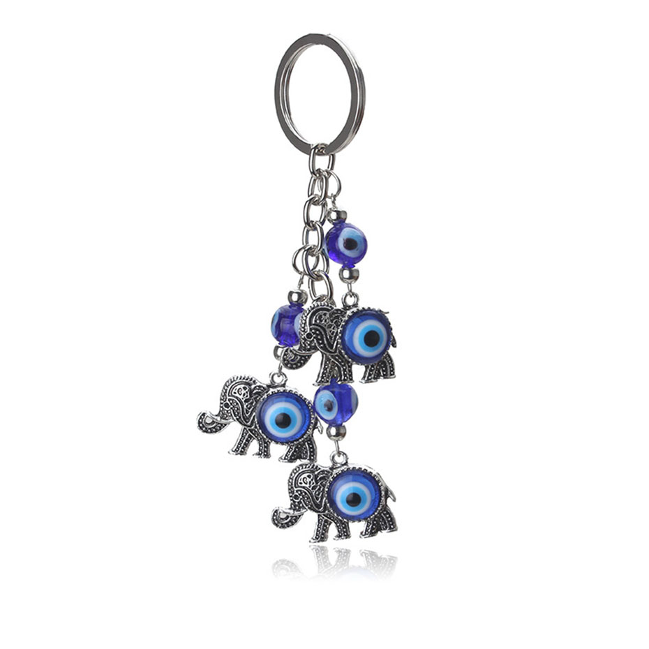 Charms Key Chain Turkish Blue Evil Eye Elephant Pendent Key Ring Alloy Mental Car Key Chain For Woman Man Jewelry Gift Sp1865 Relieving Heat And Thirst. Jewelry & Accessories Jewelry Sets & More