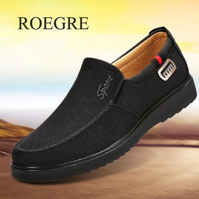 2019 חדש הגעה אביב קיץ נוח נעליים יומיומיות Mens בד נעלי גברים נוחות נעלי מותג אופנה שטוחה נעל