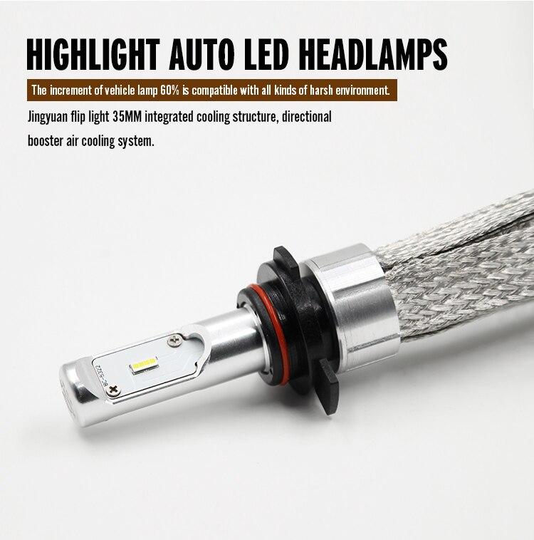 ФОТО New products KSEGA  high lumen 40w 8000 lumen 9~24v led headlight bulb  for all cars h7 hb3 hb4 h15