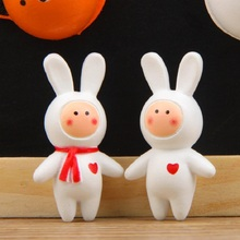 2pcs/lot Cute Kawaii Anthony Fuji Rabbit Action Figure Toys PVC Fridge Magnet DIY Micro Landscape Decoration Props Children Toys