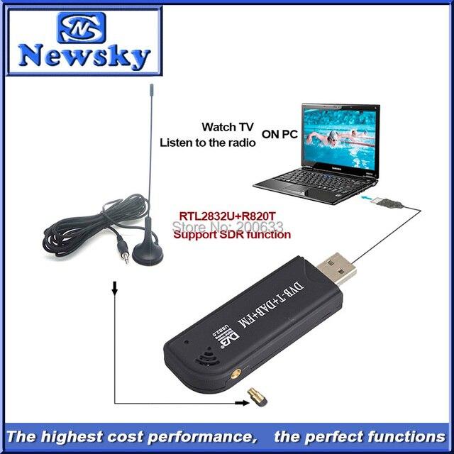 Hot Selling!!! RTL2832U R820T Chipset Support SDR  FM DAB Mini Digital USB DVB-T TV Tuner