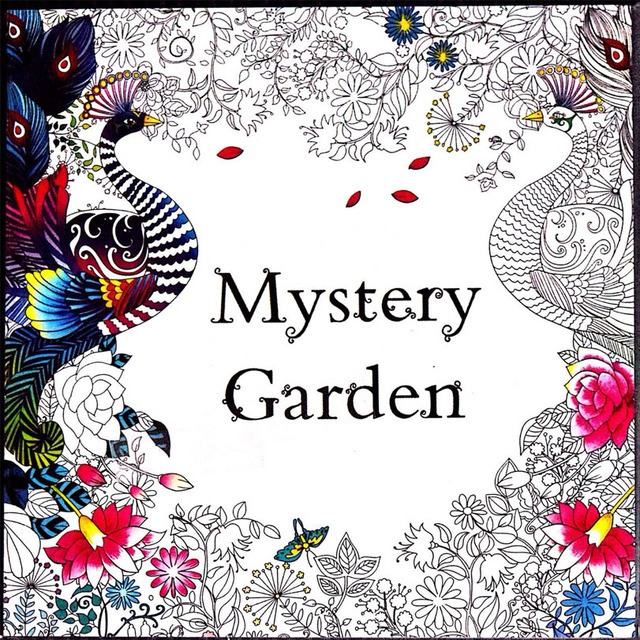 96 seiten Geheimnis Garten färbung bücher für kinder & erwachsene ...