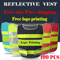 SPARDWEAR a carton of 100pcs customizable reflective mesh vest free logo printing waistcoat with reflective crystal lattice