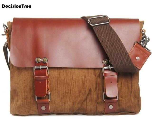 a2da2e8eca54 New Arrival Men s Shoulder Bag Satchel Linen Messenger Bags For Men Casual  Crossbody Bag Business Briefcase