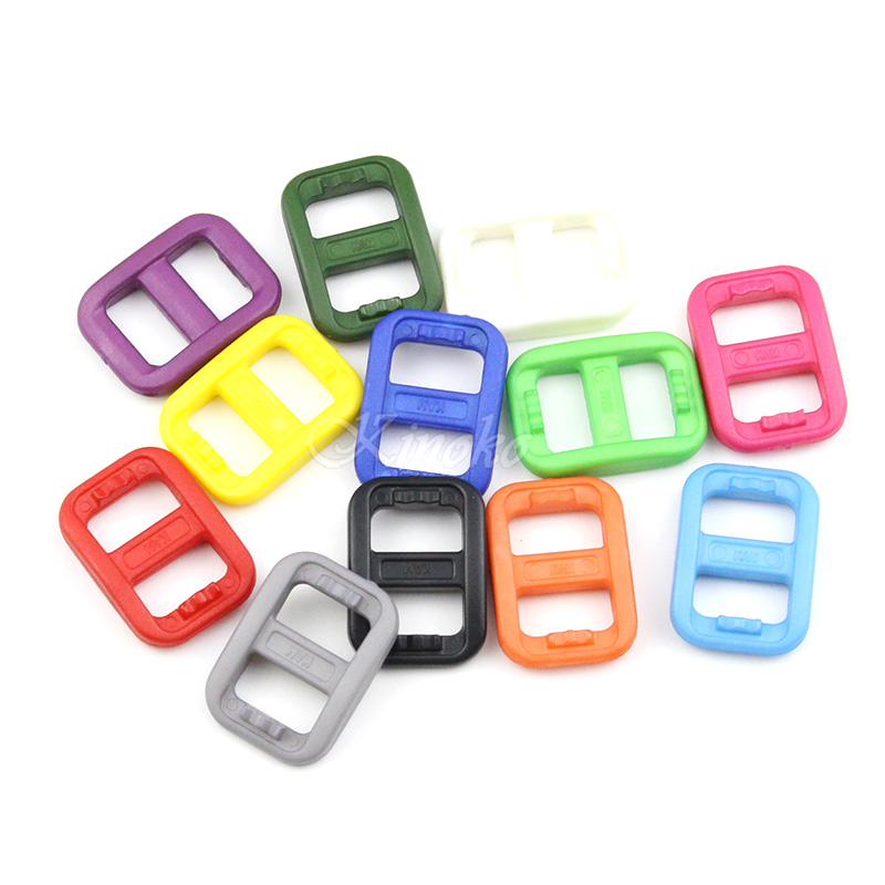 10.5mm #a011 To Clear Out Annoyance And Quench Thirst Earnest 100pcs Pack 3/8plastic Mix Color Ful Tri Glide Adjust Buckles Slider Tri-glide Adjust Buckles Webbing