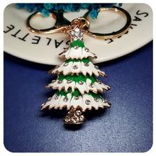 Christmas Tree Charm jewelry for Handbag Decoration Ornament Fantastic 3D Key Chain Gift festive christmas ornament hearts shape bead chain 260cm 2 chain pack