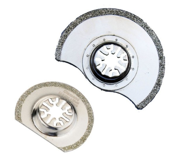 FREE SHIPPING 2 pcs diamond Oscillating MultiTool saw blade fit for most multi font b tool
