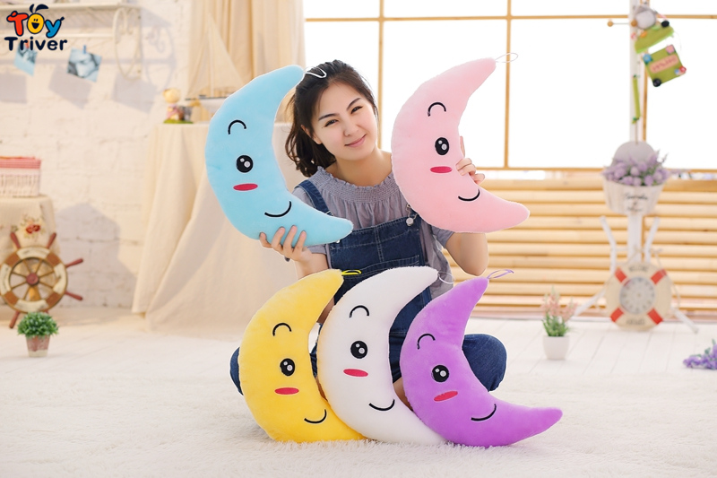 LED light-up toys Luminous Moon Glow light Pillow Plush Stuffed Doll Party Birthday Baby Kids Gift Home Living Shop Decoration