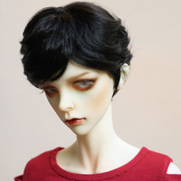 Cataleya New Hot Unisex black short hair for doll wigs 1/3 1/4 1/6 1/8 1/12 dolls hair