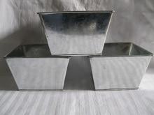 ברזל עציץ מתכת סירי גן ברזל סירי מרפסת קישוט עציץ מתכת פח דלי D16 * H10CM