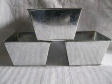Ferro Fioriera In Metallo vasi da giardino vasi di Ferro balcone decorazione vaso di fiori In Metallo secchio di Latta D16 * H10CM