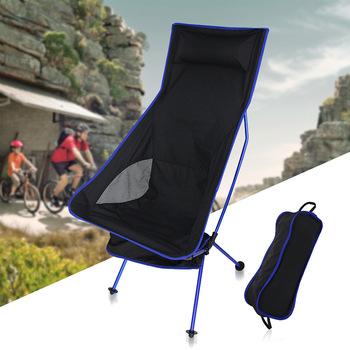 Plaża krzesło meble ogrodowe meble ogrodowe krzesło kempingowe kamp sandalyesi składane krzesło wędkarza super lekki 40*90*100 cm hot tanie i dobre opinie Nowoczesne Księżyc krzesło Ecoz 40*90*100cm Oxford+steel tube