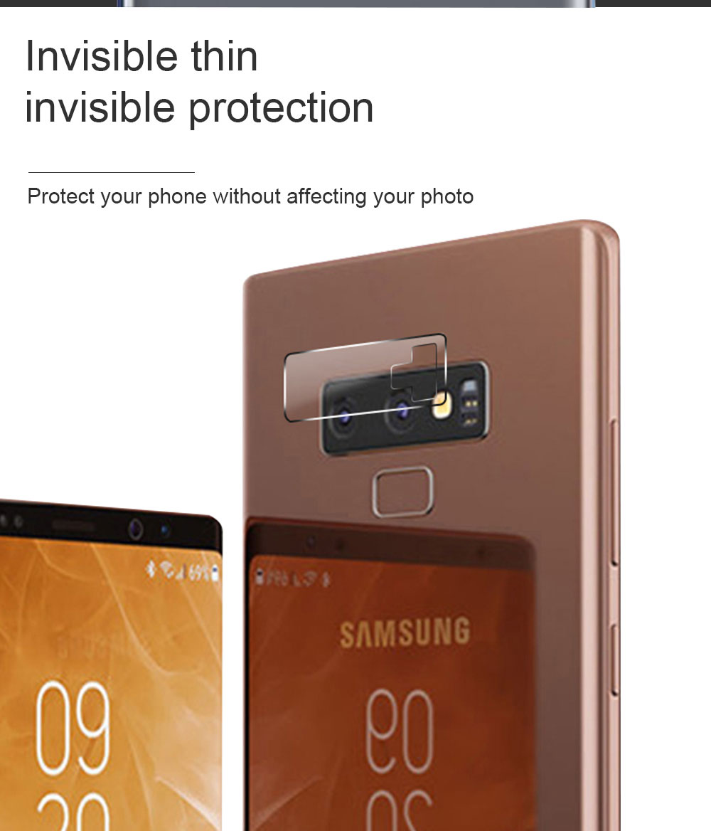 Ascromy For Samsung Note 9 8 Rear Camera Lens Protector Tempered Glass Protection For Galaxy S9 Plus S8 S7 edge S6 verre trempe (2)