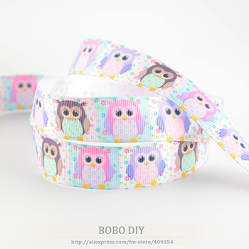 Cute owl designs min order is $5 (mix order) 78 22mm grosgrain ribbons polyester for DIY package decoration free shipping craft