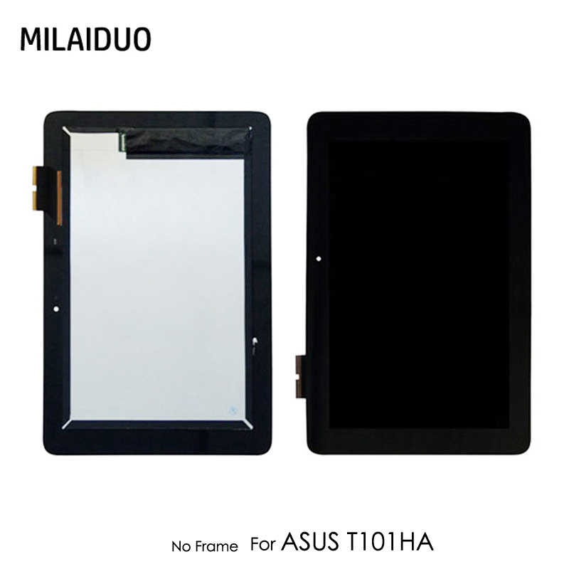 LCD Display For ASUS Transformer Book T101H T101HA Full LCD Touch Screen Digitizer No Frame Replacement Black Free Shipping replacement full lcd display touch screen digitizer for htc desire s s510e g12