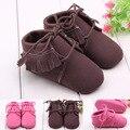 Bebé de la manera Zapatos de Las Muchachas de La Borla Mocasines Zapatillas de deporte de Niño Infantil Chicos Niños del Cuero Chaussures bebe Sapatos Edad 0-1Y