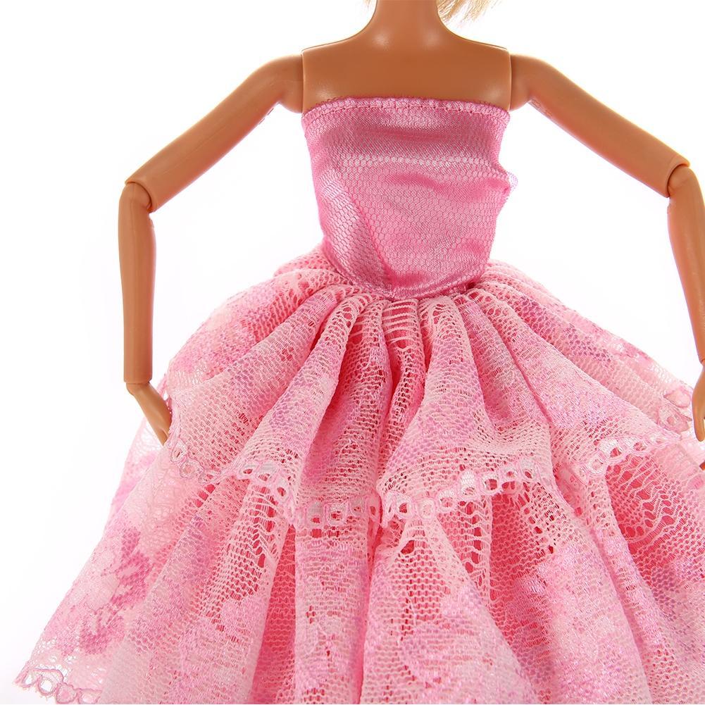 LeadingStar Mode 5 Schicht Lange Bobbi Puppe Hochzeit Kleid für ...