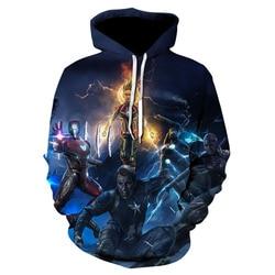 Marvel The Avengers 4 Endgame Quantum Realm Cosplay Costume Hoodies Men Hooded Avengers Zipper End Game Sweatshirt Jacket 6