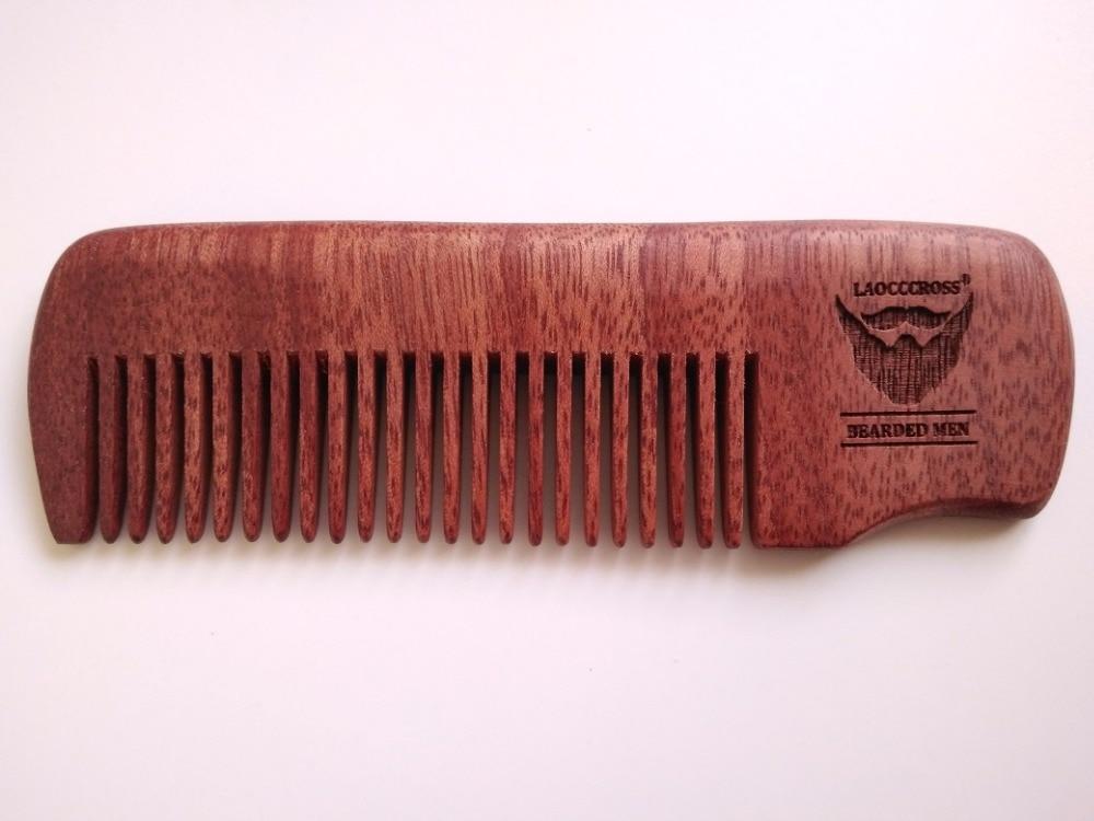 Håndlavet Red Comb Fine Tooth Comb Beard / Hårkarm til mænd Beard - Hårpleje og styling