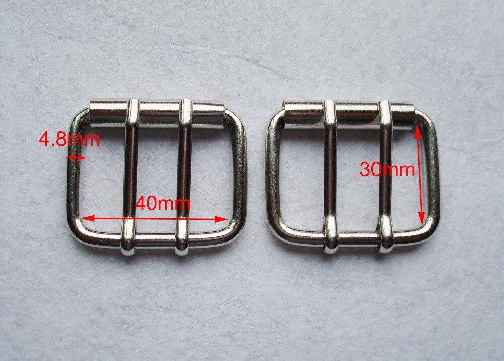 "1-9 / 16 ""(40MM) DIY Δερμάτινα Υλικά Διπλό Πινέλα Ζώνη Αγκαλιά Κυλίνδρου Ασημένια, πόρπη τσάντα, αξεσουάρ ένδυσης, συνδετήρες τσάντα"