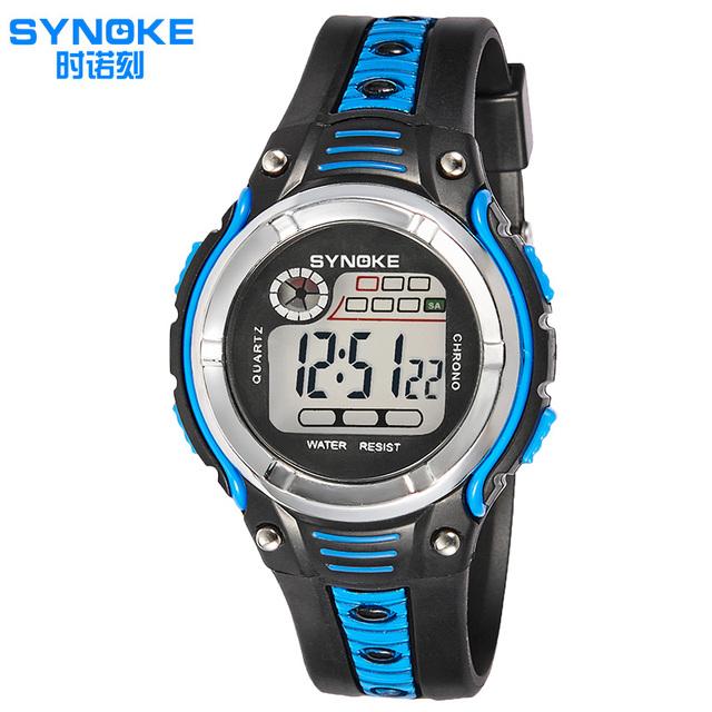 2017 synoke student relógio digital homens relógios desportivos relogio masculino faixa de cor dupla levou à prova d' água militar relógios de pulso