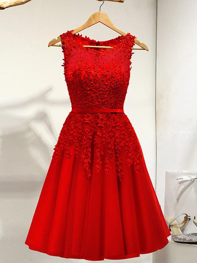 na altura do joelho vestido de festa LX073-2