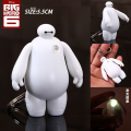 Free Shipping Big Hero 6 Baymax Anime Key Chain Cute LED Light Action Figure Toy Pendant Keychain 6cm