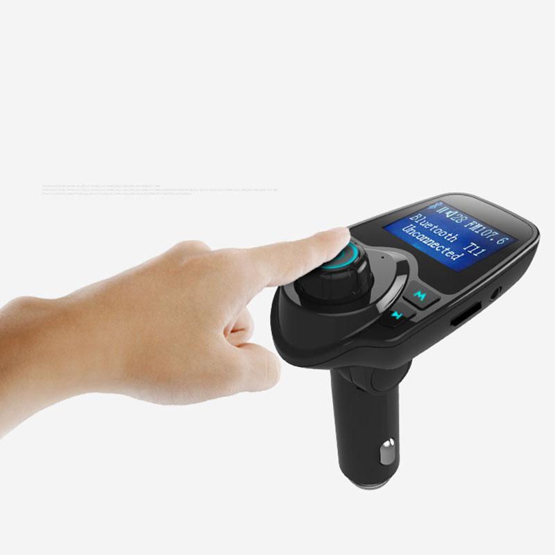 Prix pour Bluetooth De Voiture Kit Mains Libres Transmetteur FM Mains Libres Récepteur 5 V Double USB Chargeur T11 Multifonction Sans Fil Voiture Lecteur MP3