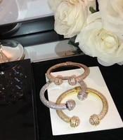 ZOZIRI fashion Famous brand replica jewelry full of zircon round ball bangle rotate cuff bracelet party jewelry