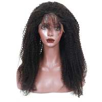 4x4 Silk Base Full Lace Human Hair Wigs Pre Plucked Afro Kinky Curly Human Hair Wig With Baby Hair 130% Brazilian Remy Wig CARA