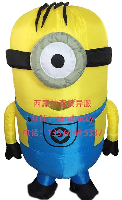 Minions Despicable Me Cevin Dave Aufblasbare Bob Big Hero6 One Eye Minion Kostum