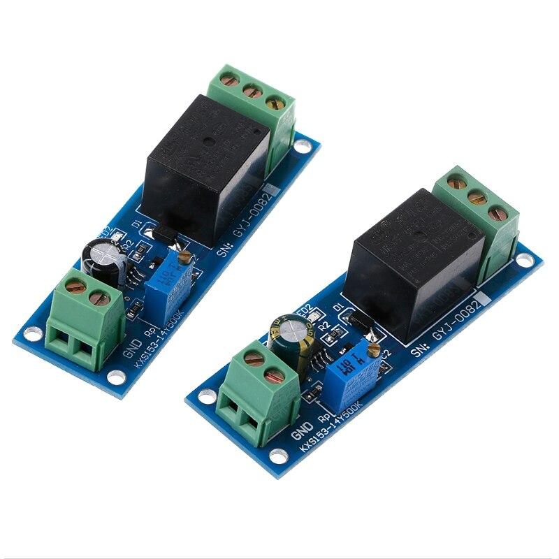 Новый задержки реле 12 В/5 В задержки реле NE555 время задержки реле Модуль осциллятор переключатель задержки Регулируемый 0 до 10 секунд Лидер п...