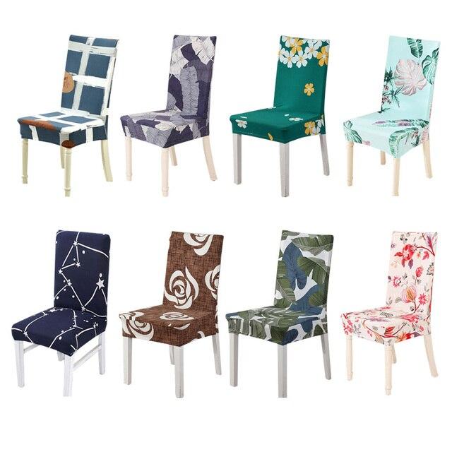 """מטבח כיסא מכסה ספנדקס Funda סילה ספנדקס ריפוד כיסא למתוח מושב מכסה לכיסאות למתוח יו""""ר כיסוי אוכל 1 PC"""