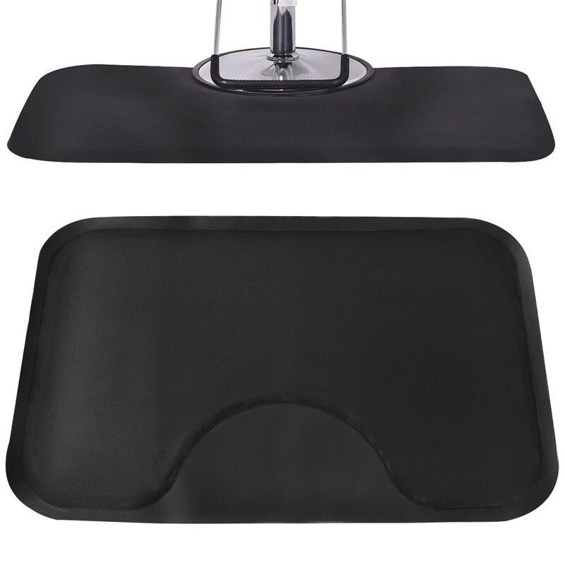 Noir Rectangle Salon de coiffure tapis de sol anti-dérapant étanche bureau maison chaise tapis HB84663 - 5