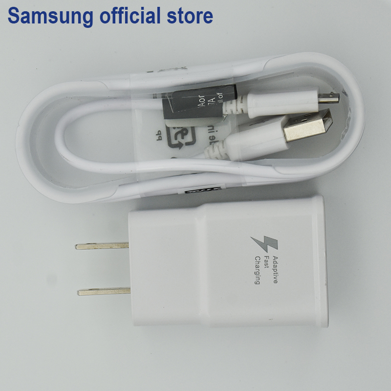 SAMSUNG Original Rapide Puissance 9 V 2A Mur Voyage D'adaptation Rapide Chargeur USB rapide Pour Samsung Galaxy S6/S7 Bord Note 4 5 US plug UE