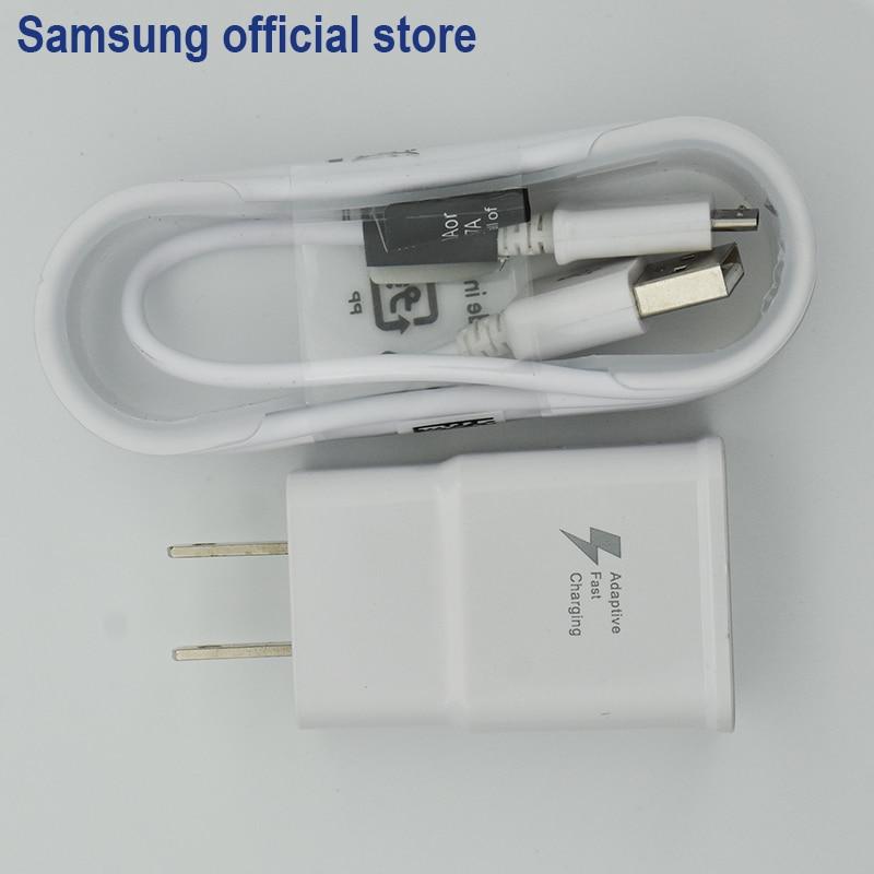 SAMSUNG Originale Veloce di Alimentazione 9 v 2A di Corsa Della Parete di Adattivo Fast Charger USB Veloce Per Samsung Galaxy S6/S7 bordo Nota 4 5 UE spina DEGLI STATI UNITI