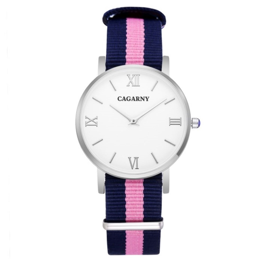 Fashion Women Watch Women Quartz Wristwatch Canvas Belt Ladies Dress Watches Women Watches Reloj Mujer Montre Femme Cagarny New