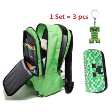 New Minecraft backpack Boy girl Multifunction canvas creeper backpacks unisex mochilas infantil de personagem school bag