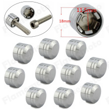 Motorcycle CNC Inner 11 5mm 7 16 Schrauben Motor Bolt Topper Cover Cap For Harley Chrome