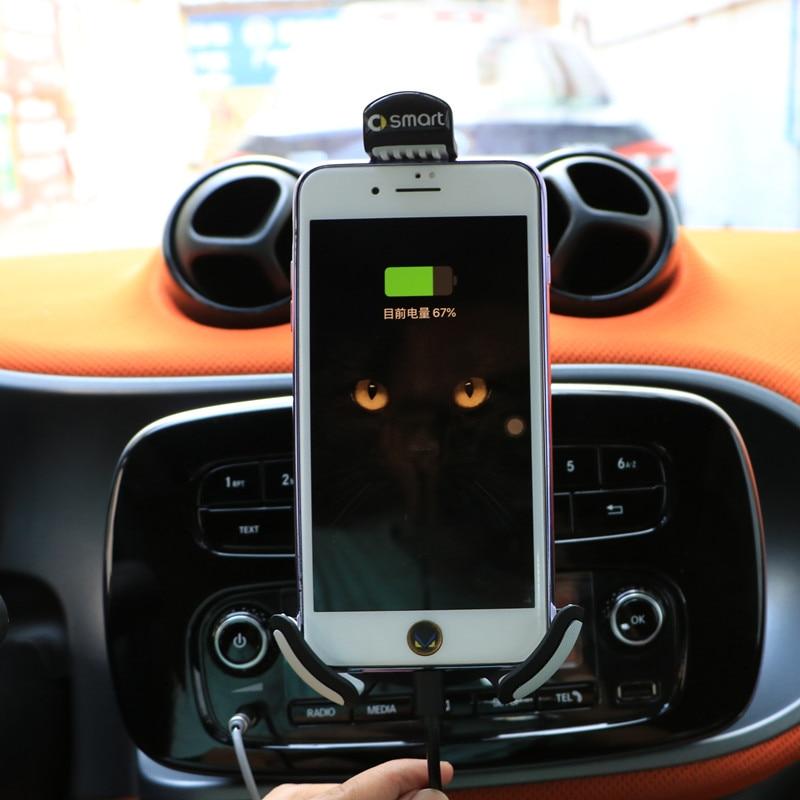 2015-2018 Nouveau Smart Fortwo Forfour 453 d'origine mobile phone support mode de charge navigation cadre pour iPhone X 8 puls