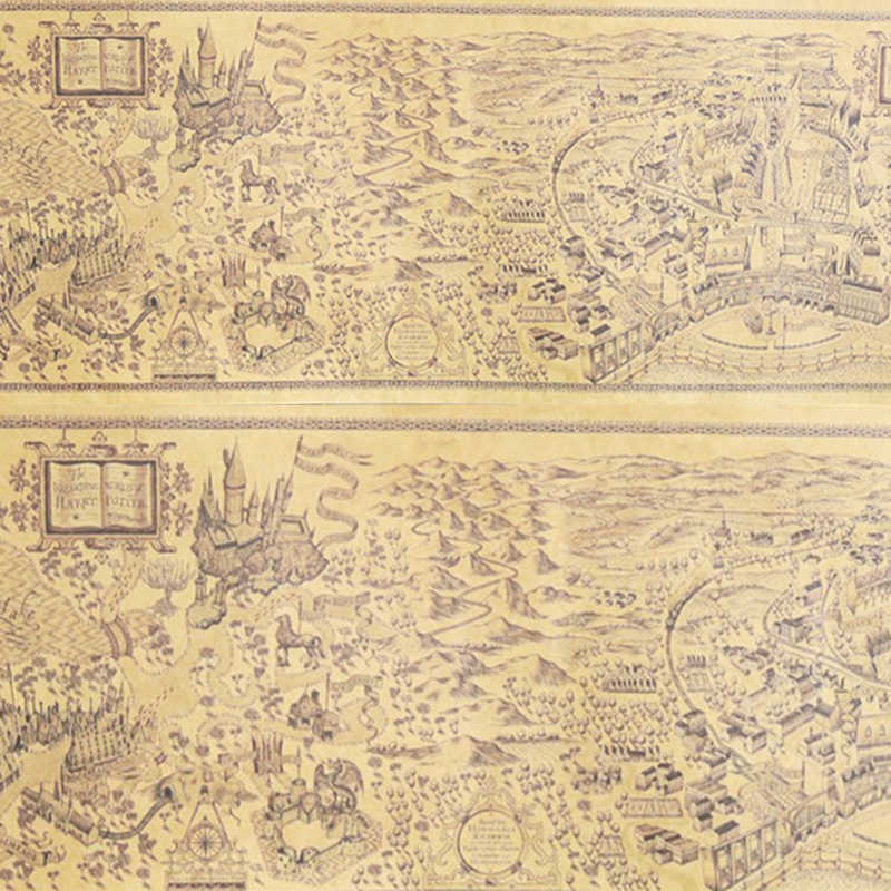 Detail Feedback Questions about 40 pcs Harry Potter Magic World Map ...