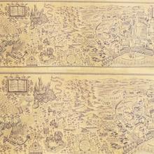 40 pcs Newest Magic World Map Famous View Kraft Paper Cafe Bar Poster Retro Poster Decorative Painting 72x26cm