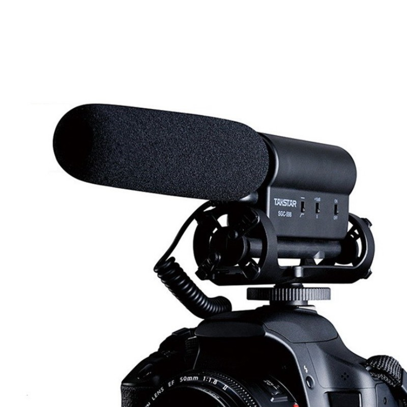 Photography Interview Microphone for Youtube Vlogging Video Shotgun MIC for Nikon Canon DSLR microphone image