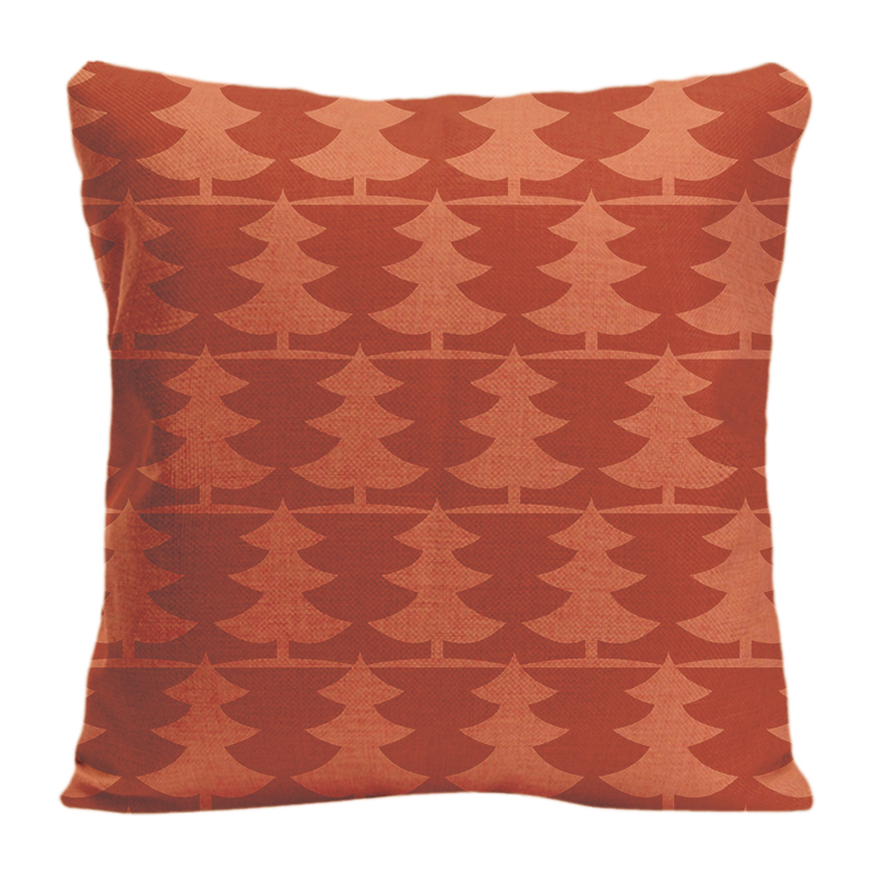 Cotton Linen Pine Trees Orange Throw Pillow Case Decorative Cushion Cover Pillowcase Customize Gift By Lvsure For Car Sofa Seat