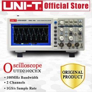 Image 5 - UNI T UTD2102CEX التخزين الرقمي الذبذبات 2CH 100MHZ Scopemeter نطاق متر 7 بوصة عريضة LCD يعرض