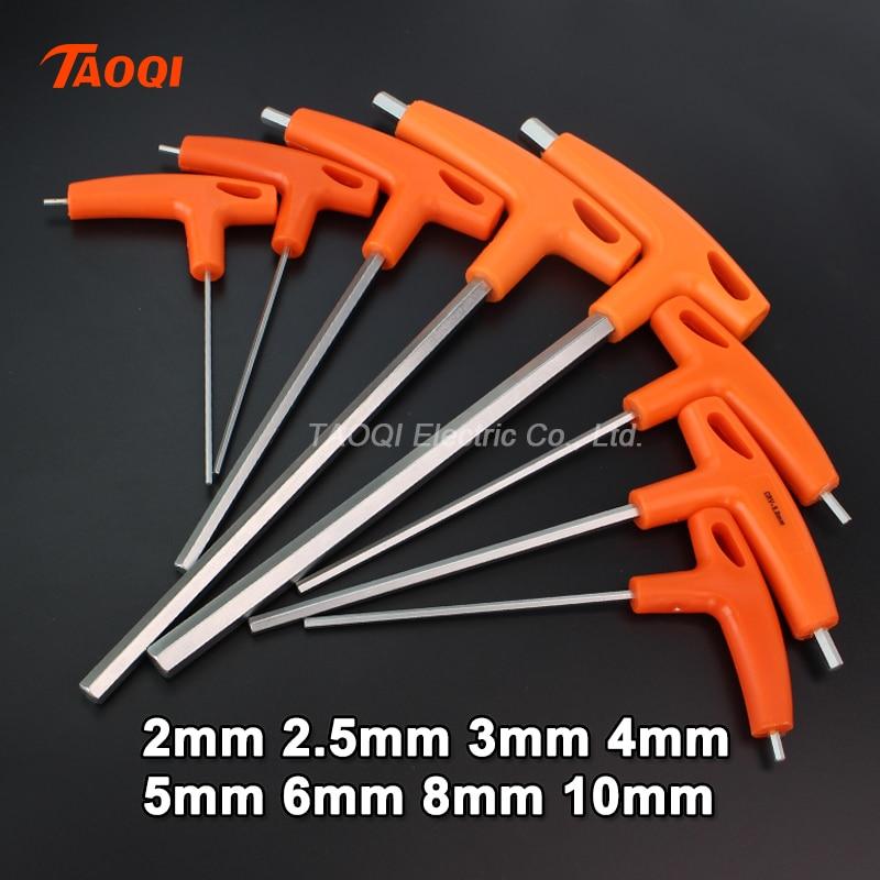 2/2.5/3/4/5/6/8/10mm Flat/Ball Head Hex Key Allen Wrench Hand Tool Universal Quick Snap Adapter Chrome Vanadium Steel Hexagona